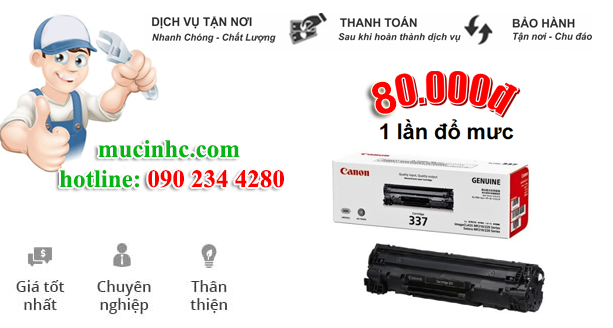 nạp mực máy in Canon 2900