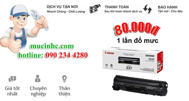 nạp mực máy in Canon 3300