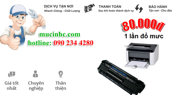 nạp mực máy in Brother HL 1201