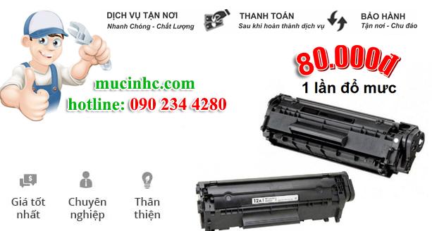 nạp mực máy in giá rẻ tại HCM