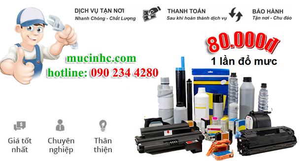 nạp mực máy in đường Tân Sơn quận Tân Bình