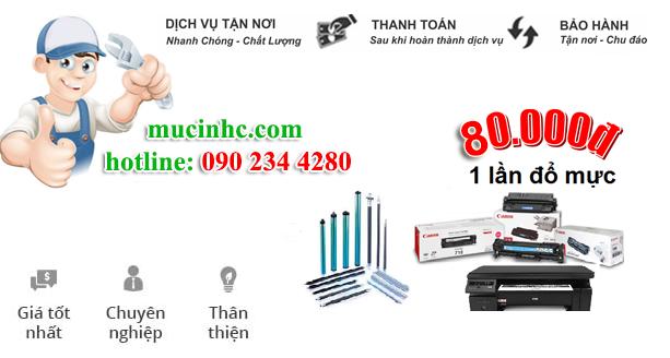 nạp mực máy in đường Phan Xích Long quận Phú Nhuận