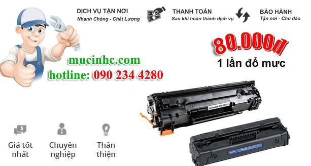 nạp mực máy in đường Phan Huy Ích