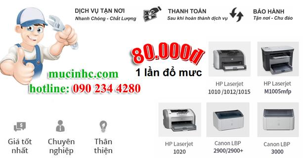 Nạp mực máy in đường Nguyễn Xí