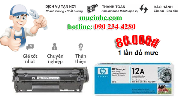 nạp mực máy in đường Phạm Văn Chiêu