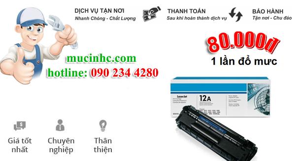 Nạp mực máy in đường Nguyễn Cửu Vân