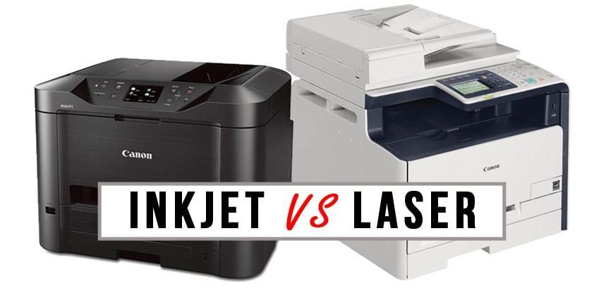 nên chọn máy in phun hay laser