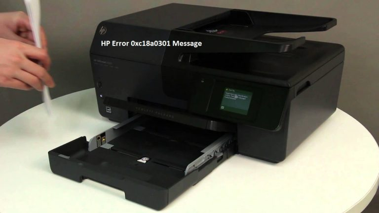 cách khắc phục sự cố HP Error 0xc18a0301