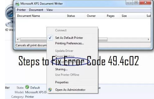 khắc phục lỗi 49.4c02 máy in HP
