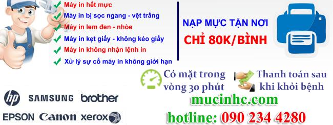 dịch vụ nạp mực in tại tphcm giá rẻ