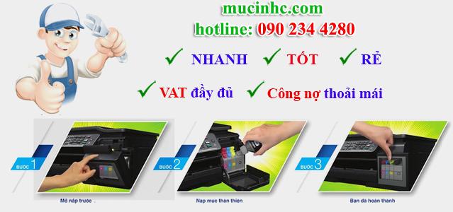 nạp mực máy in tại quận Bình Tân giá rẻ
