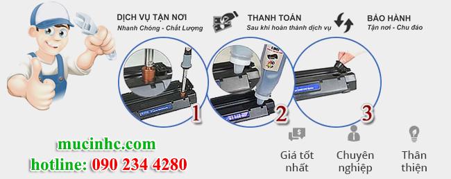 bơm mực máy in tại quận Tân Phú giá rẻ
