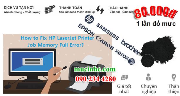 cách khắc phục lỗi not enough memory máy in