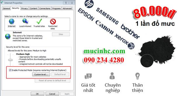 hướng dẫn sửa lỗi không in được trên internet explorer