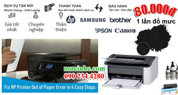 cách khắc phục lỗi máy in hết giấy