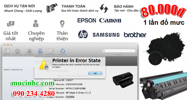 sửa lỗi epson printer in error state
