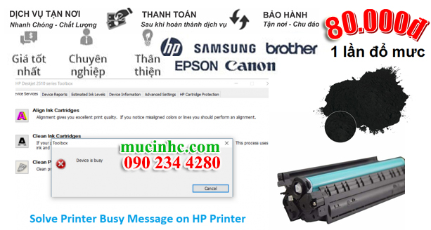 sua loi printer busy message hp